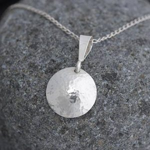 silver pendant by Ian Caird of iana Jewellery