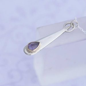 Amethyst Pendant, sterling silver pendant with Amethyst by iana jewellery