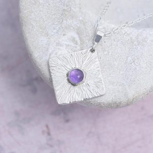 Amethyst Pendant made of sterling silver by iana Jewellery