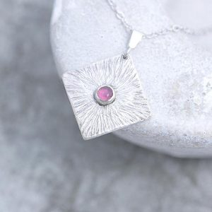 Tourmaline Pendant made of silver by Ian Caird of iana Jewellery