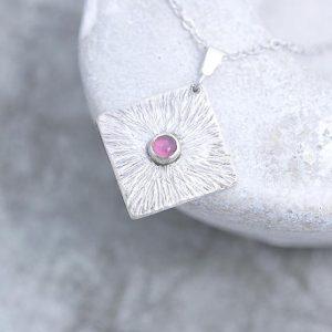Tourmaline Pendant made of silver by Ian Caird of iana Jewellery