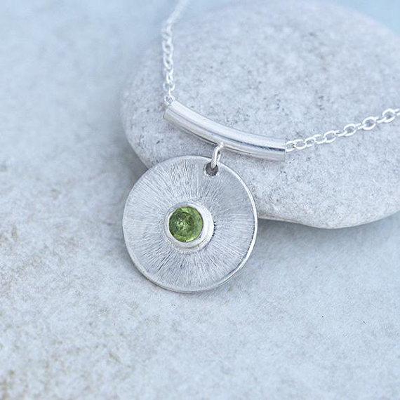 Peridot Pendant, handmade jewelry, jewellery maker Canterbury Kent