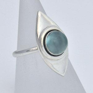 Chalcedony ring, handmade jewelry, jewellery maker Canterbury Kent