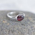 Etsy Garnet Ring