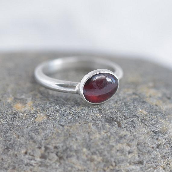 Garnet Ring, handmade jewelry, jewellery maker Canterbury Kent
