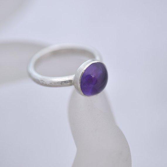 Etsy Amethyst ring size N