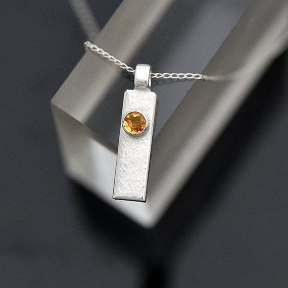 citrine pendant iana jewellery maker Canterbury Kent