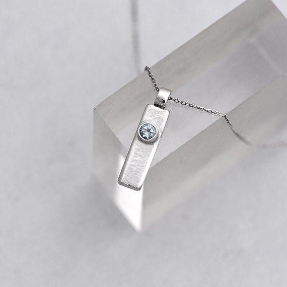 Sky blue Topaz pendant iana jewellery maker Canterbury Kent handmade Etsy jewelry