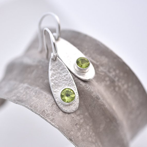 Peridot earrings iana jewellery maker Canterbury Kent