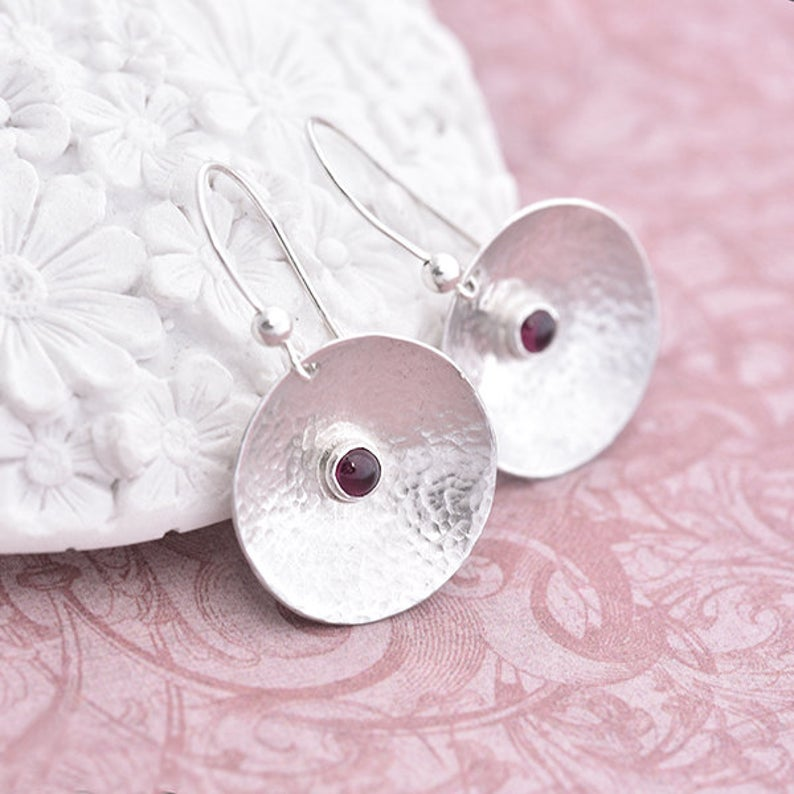 Garnet Earrings by iana Jewellery