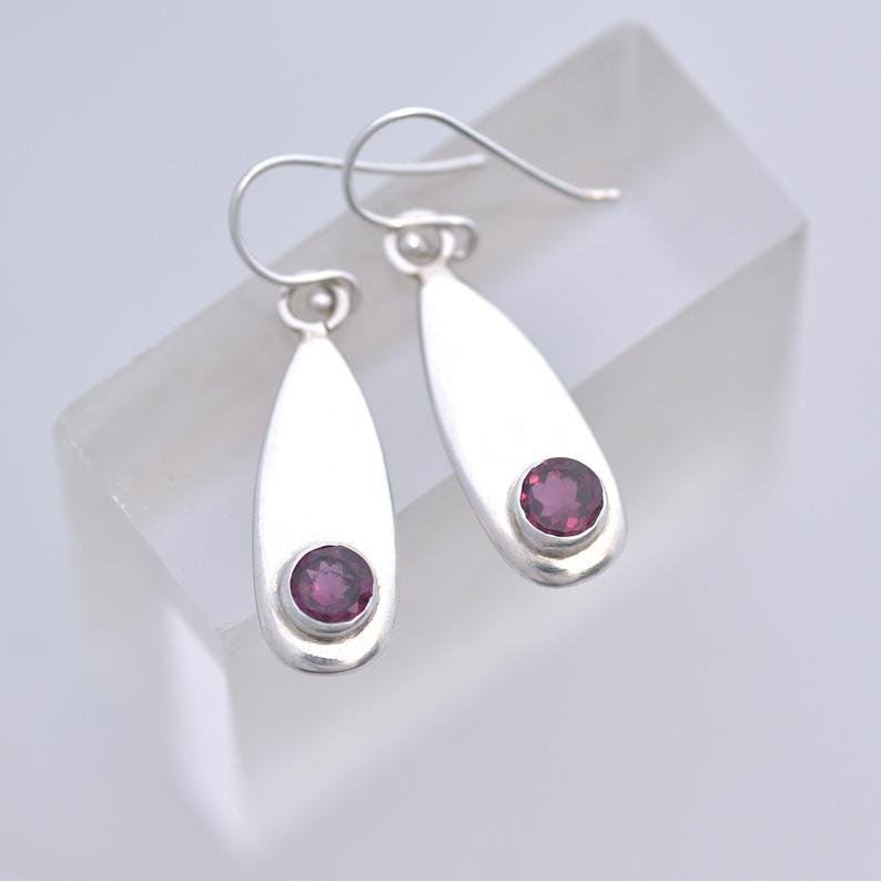 Garnet Earrings Etsy Shop ianajewellery